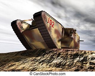 pesado, tanque, británico