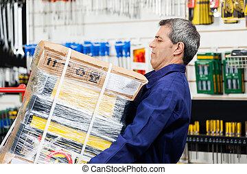 pesado, tienda, paquete, herramienta, trabajador, hardware,...