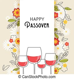 Pesah celebration concept , jewish Passover holiday. ...