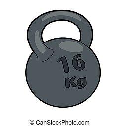 pesante, kettlebell, ferro
