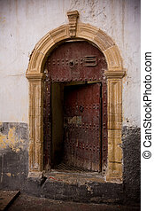 pesante, vecchio, porta