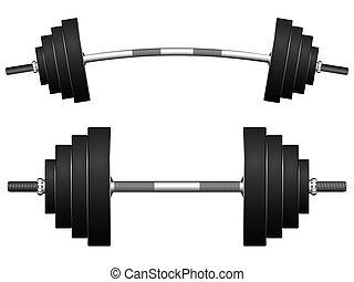 pesas, contra, blanco