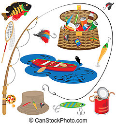 pesca, ícones