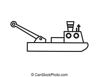 pesca, barco, icono