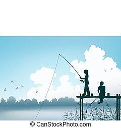 pesca, escena