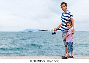 pesca, famiglia