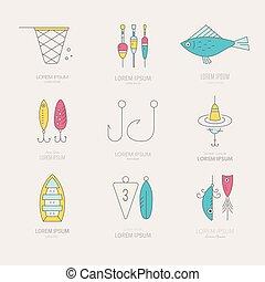 pesca, icone