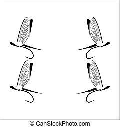pesca mosca, icone