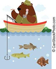 pesca, orso