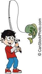 pesca, ragazzo