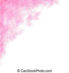 pesca, rosa, acquarello, astratto, fondo