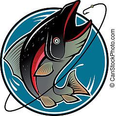 pesca, símbolo