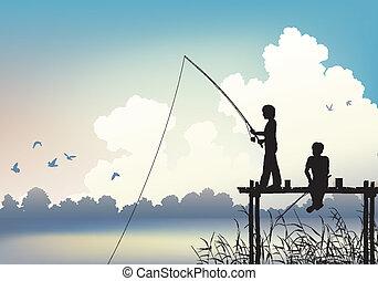 pesca, scena