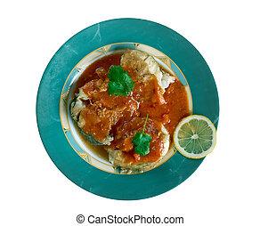 pescado,  de,  cazuela,  colombiana
