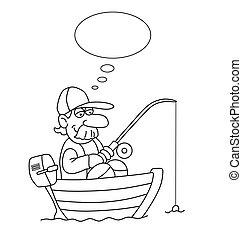 pescador, caricatura
