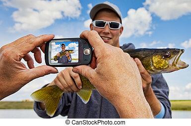 pescador, instantâneo