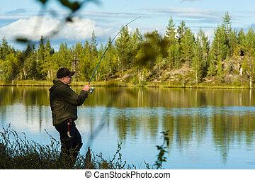 pescador, paisaje