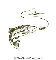 pescador,  Salmón, barco
