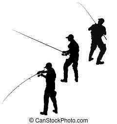 pescador, silueta