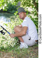 pescador, triste