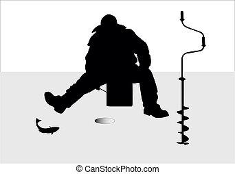 pescador, vetorial