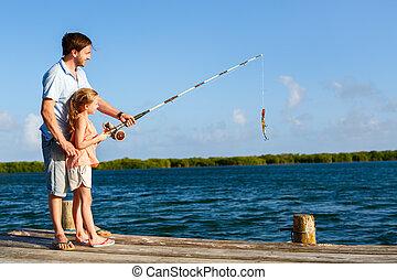 pescaria família