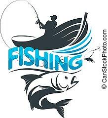 pescatore, peschereccio, viaggio