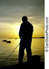 pescatore, silhouette