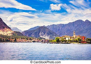 pescatori, italia, isola, borromean, maggiore, stresa, dei,...