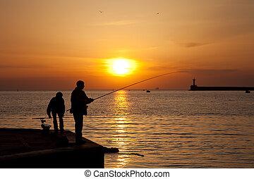 pescatori, silhouette