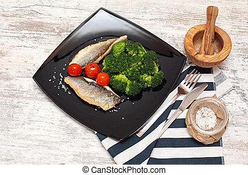 pesce filetta, servito