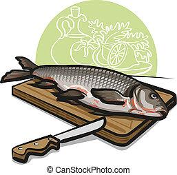 pesce fresco, crudo