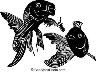 Pesce rosso illustrazioni e clipart pesce for Carpa pesce rosso