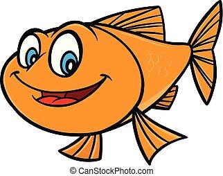 pesce rosso, cartone animato