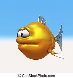 pesce rosso, strano