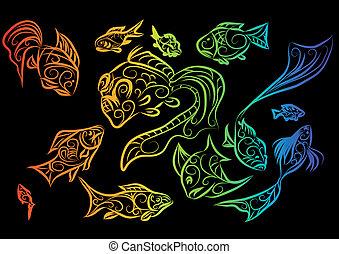 pesce tropicale, 2