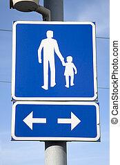 Pesdestrian Street Sign
