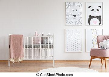 pesebre del bebé, habitación