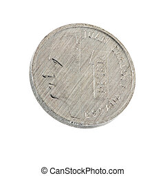 the last Spanish currency the peseta trimmed and isolated