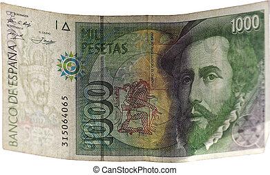 A bill of thousand pesetas