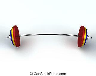 pesi, weightlifting, render, 3d