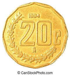 peso, 20, mexicain, cents
