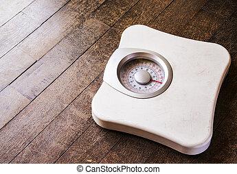 peso, análogo, escala