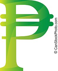 peso, cuba, colombia, simbolo, valuta, filippine, icona