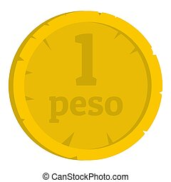 Peso icon isolated
