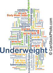 peso insuficiente, concepto, plano de fondo