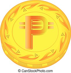Pesos coin - gold pesos, metal pesos, small change, pocket...