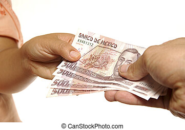 pesos, mexicano, intercambio