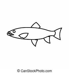 pesque ícone, esboço, estilo