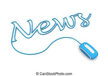 pesquisar, azul, cabo, notícia